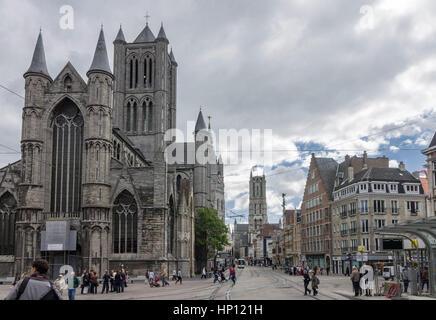 Korenmarkt Ghent Belgium - Stock Image