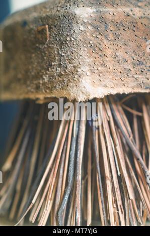Sweeping Brush Bristles UK - Stock Image