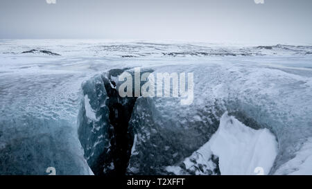 On top of the glacier, winter in Iceland, Europe - Stock Image