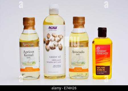 Oils: apricot kernel, castor, avocado, jojoba - Stock Image