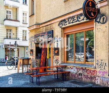 Schmittz Sports Bar Exterior. Torrstr.90. Mitte, Berlin - Stock Image