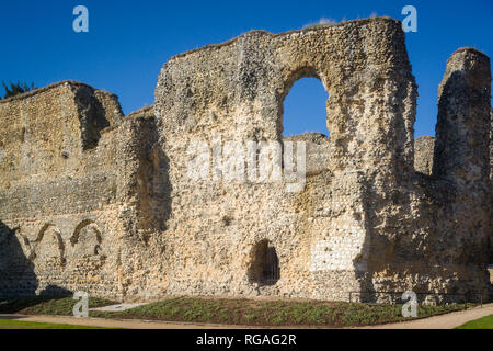 The walls of the newly restored Reading Abbey, Reading, Berkshire - Stock Image
