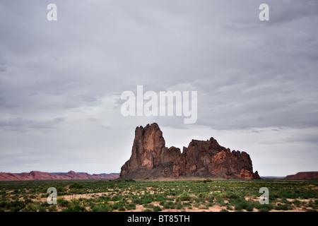 rock mesas, Navajo Reservation, Northern Arizona - Stock Image