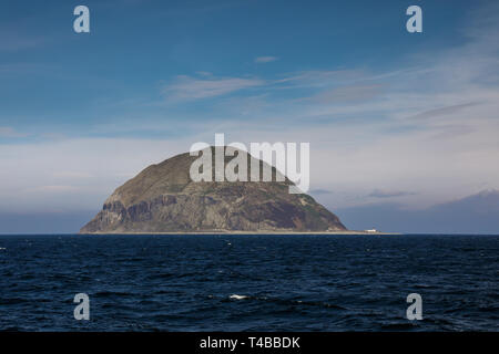The island of Ailsa Craig off the west coast of Scotland - Stock Image