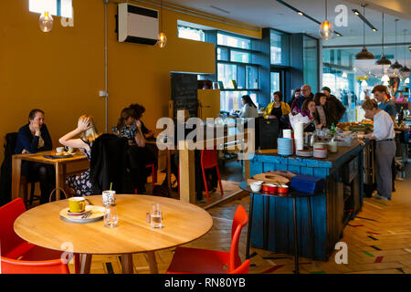 Interior of the Smeltery Café at the MIMA Art gallery in Middlesbrough - Stock Image