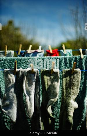 Washing line - Stock Image