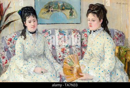 Berthe Morisot, The Sisters, portrait painting,  1869 - Stock Image