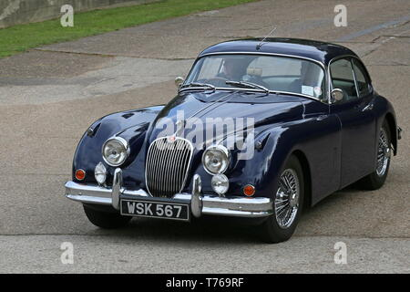 Jaguar XK150 SE (1957), British Marques Day, 28 April 2019, Brooklands Museum, Weybridge, Surrey, England, Great Britain, UK, Europe - Stock Image