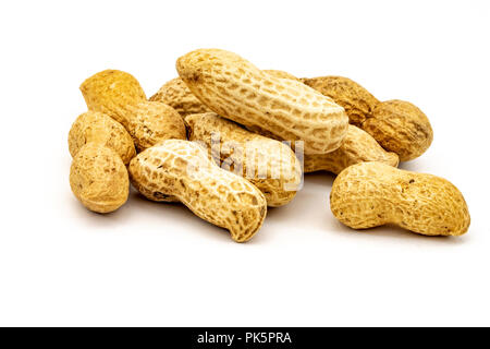 Unsalted roasted shelled peanuts also known as monkey nuts - Stock Image