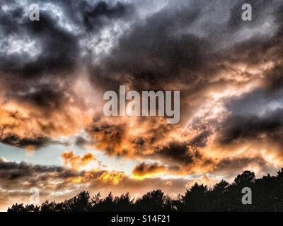 Burning sky - Stock Image