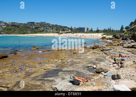 Freshwater Beach north of Manly Sydney Australia - Stock Image