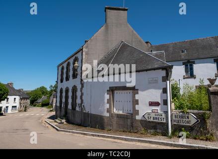 La Feuillée village in Brittany, north-west France. - Stock Image