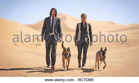 JOHN WICK: CHAPTER 3 - 2019 Lionsgate film with Keanu Reeves and Halle Berry - Stock Image