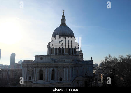 View of St Pauls Cathedral building from One New Change in the City of London UK  KATHY DEWITT - Stock Image