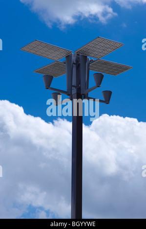 Solar street lighting - Stock Image