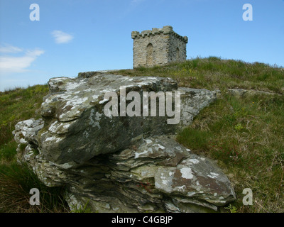 Rothley Castle (a folly) in Northumberland - Stock Image