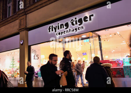 flying tiger copenhagen Store on Oxford Street, London, England, UK - Stock Image