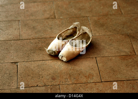 Ballet shoes - Stock Image