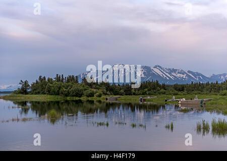 Forest and pond, Katmai National Park, Alaska - Stock Image