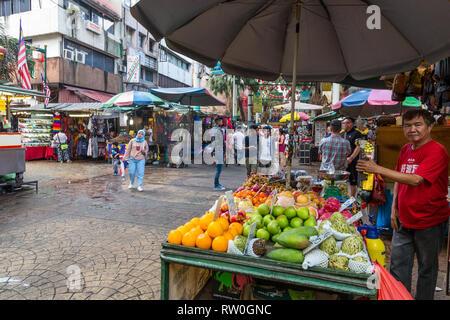 Jalan Petaling Street Market, Chinatown, Kuala Lumpur, Malaysia. - Stock Image