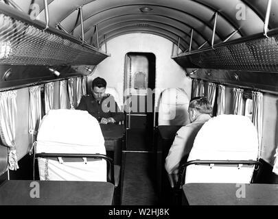 Man inside an airplane ca. 1936 - Stock Image