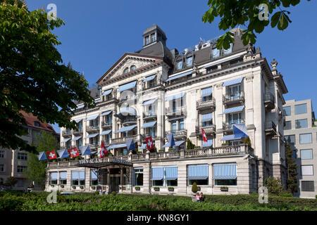 Hotel Eden au Lac, near Zurich lake, Zurich, Switzerland - Stock Image