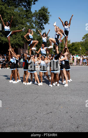 high school cheerleaders  perform at Labor Day Festival in Greenbelt, Maryland - Stock Image