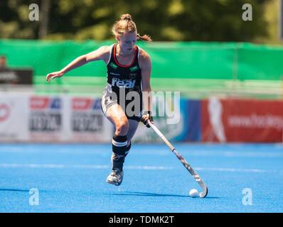 Krefeld, Germany, June 16 2019, hockey, women, FIH Pro League, Germany vs. Australia:  Lena Micheele (Germany) drives the ball. - Stock Image