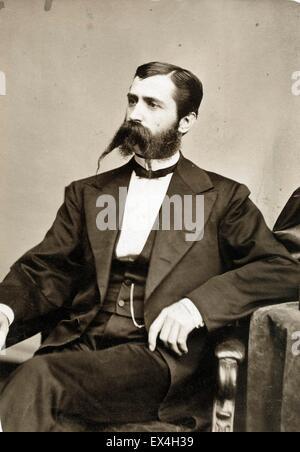 Moustache Man, by Brady's National Portrait Gallery - ca 1865 - Stock Image