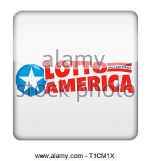 Lotto America logo - Stock Image