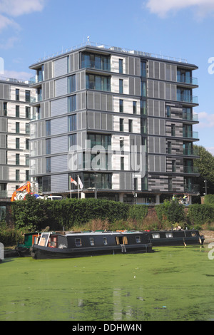 The Arthouse York Way new modern flats by Regent's Canal Kings Cross London - Stock Image
