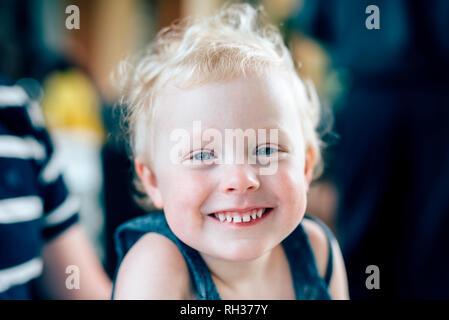 Portrait of smiling girl - Stock Image