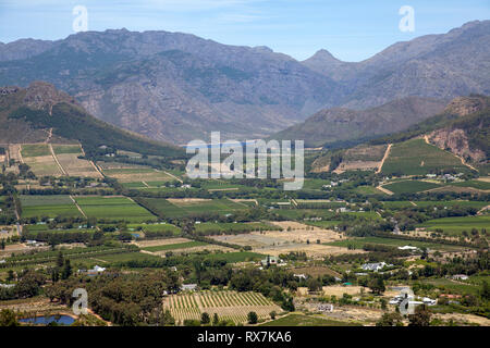 Views of Franschhoek in Western Cape, South Africa - Stock Image