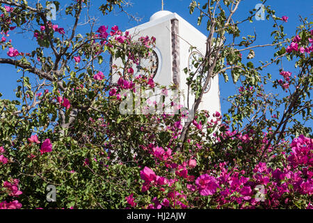 Clock Tower Oia Santorini Greek Islands - Stock Image