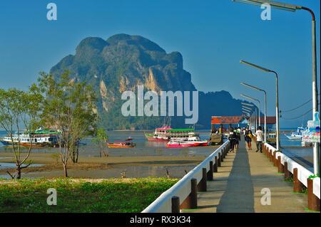 Pak Meng Pier, Pak Meng Beach, Trang Province, Thailand - Stock Image