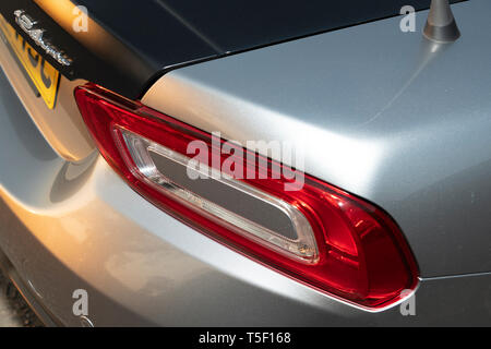 2018 Fiat 124 Abarth Spider  rear light - Stock Image