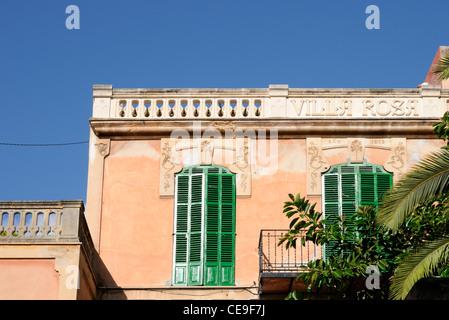 Villa Rosa in El Terreno, Palma, Mallorca, Spanien, Europa.   Villa Rosa in El Terreno, Palma, Majorca, Spain, Europe. - Stock Image
