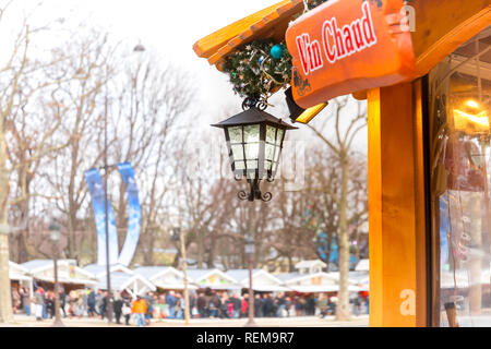 Christmas market in Paris, France - Stock Image