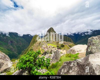 Panorama of the Machu Picchu - Stock Image