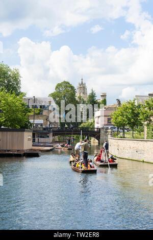 River Cam heading into city 2019 - Stock Image