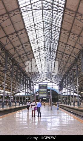 Rossio railway station Lisbon Portugal - Stock Image