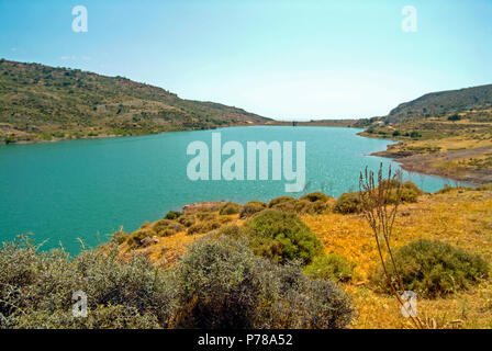 The Mavrokolympos Dam in the Mediterranean Island of Cyprus - a home to an excellent variety of insect life including many butterflies. - Stock Image