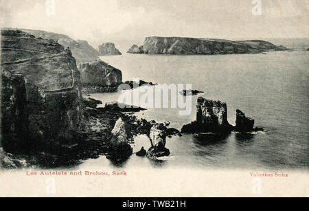 Channel Islands - Sark - Les Autelets and Brehou Island.     Date: 1923 - Stock Image