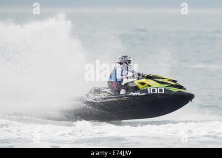 Stokes Bay, Hampshire, UK. 6th Sep, 2014. P1 Superstock final round. Stokes Bay, Gosport, Hampshire. AquaX Ria Pope - Stock Image