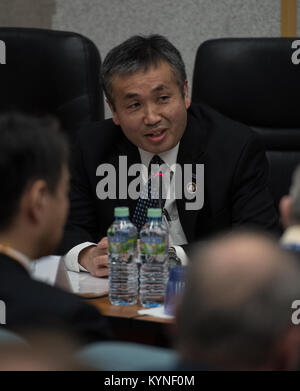 Japan Aerospace Exploration Agency (JAXA) International Space Station Program Manager Koichi Wakata is seen during - Stock Image