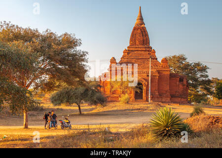 A temple in the area of Bagan - Stock Image