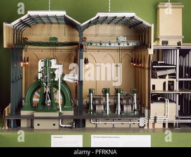 Model of Power Station - Stock Image