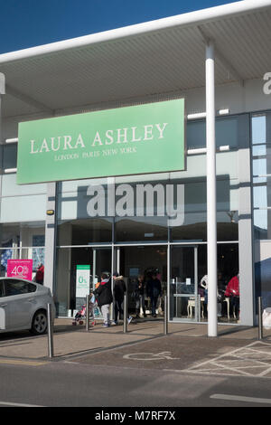 Laura Ashley, Solent Retail Park, Havant, Hampshire, UK - Stock Image