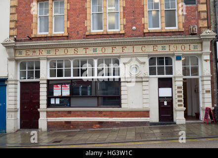 The old Aberystwyth Post Office building, closed 23rd November 2016. - Stock Image