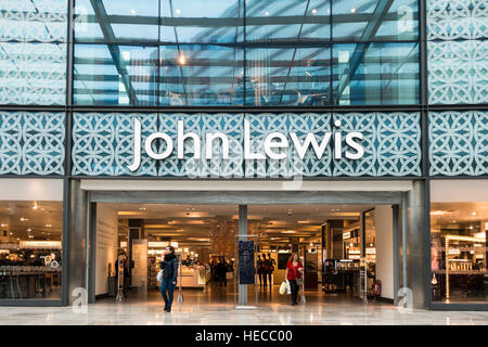 John Lewis department store in Westfield shopping centre or shopping mall, Stratford, East London. - Stock Image